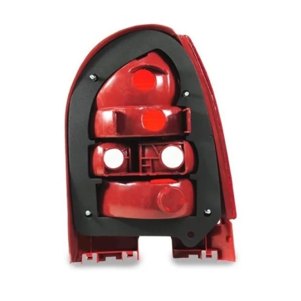 Lanterna Traseira Gol G3 1999 a 2005 Aba Vermelha Ré Fume