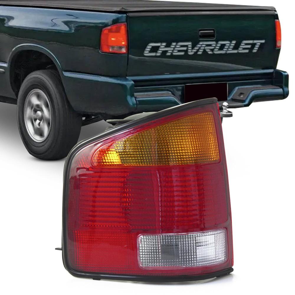 Lanterna Traseira S10 1995 a 2000 S-10 Tricolor