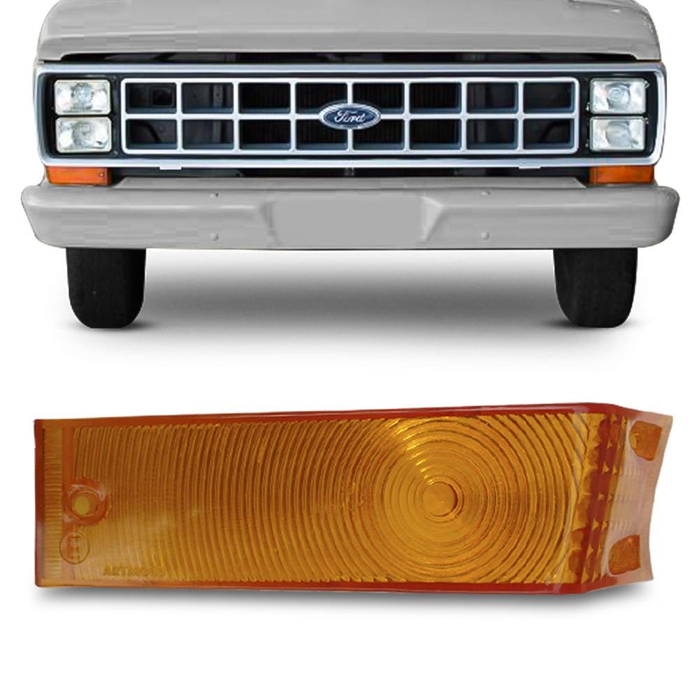 Lente Lanterna Dianteira F1000 F4000 1985 a 1991 Ambar