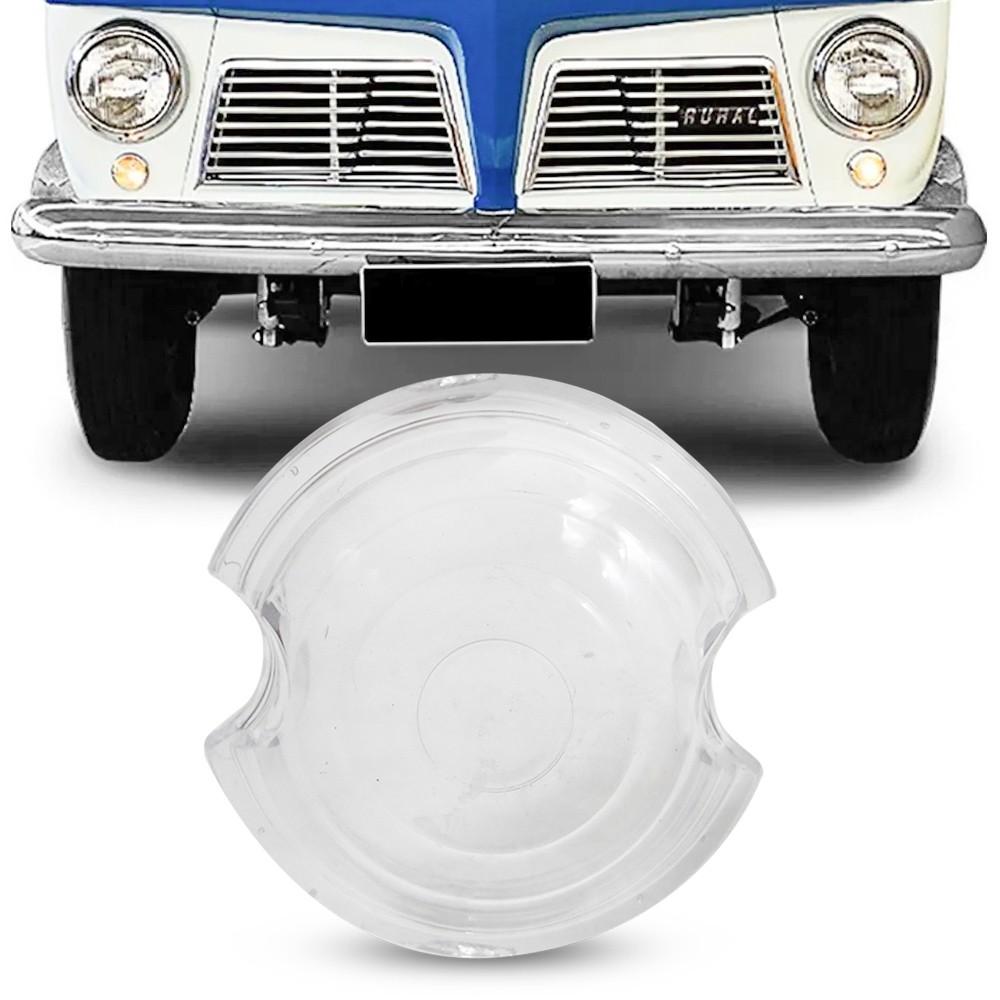 Lente Lanterna Dianteira Jeep Willys Rural 1958 a 1979 Cristal