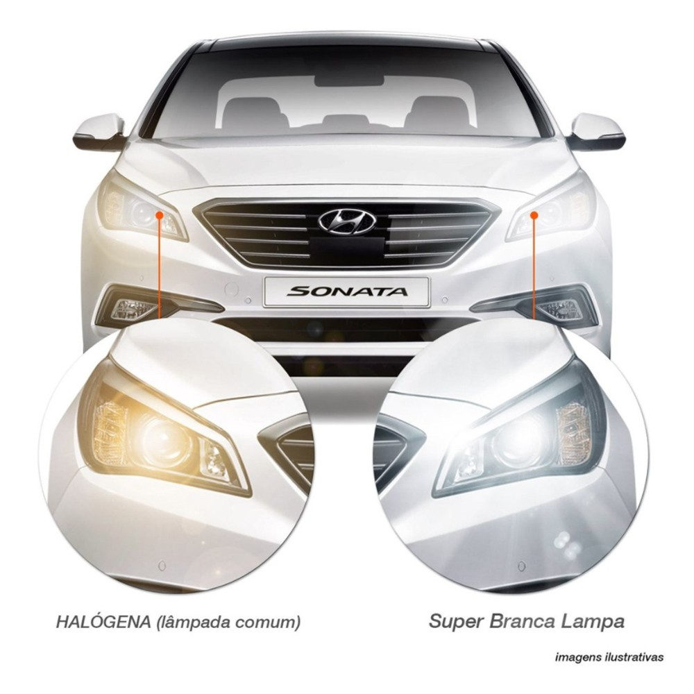 Par Lampada Super Branca H3 8500K