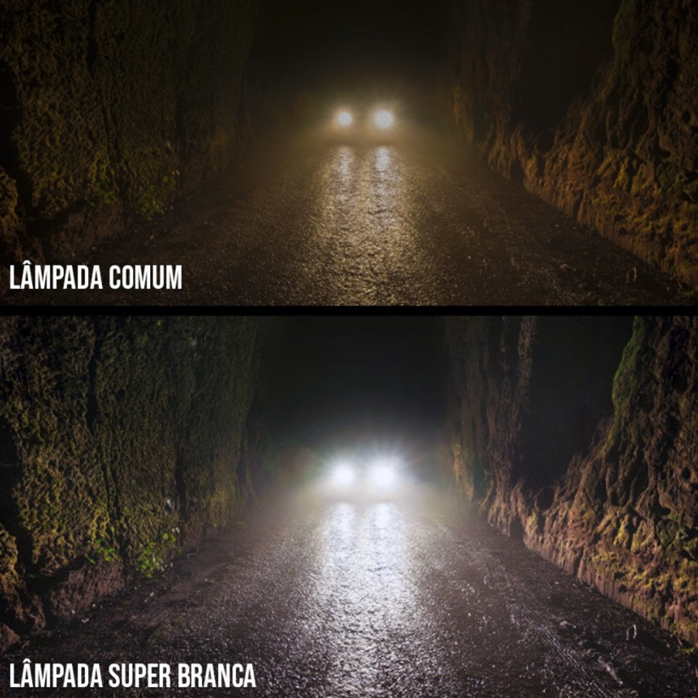 Par Lampada Super Branca H9 8500K