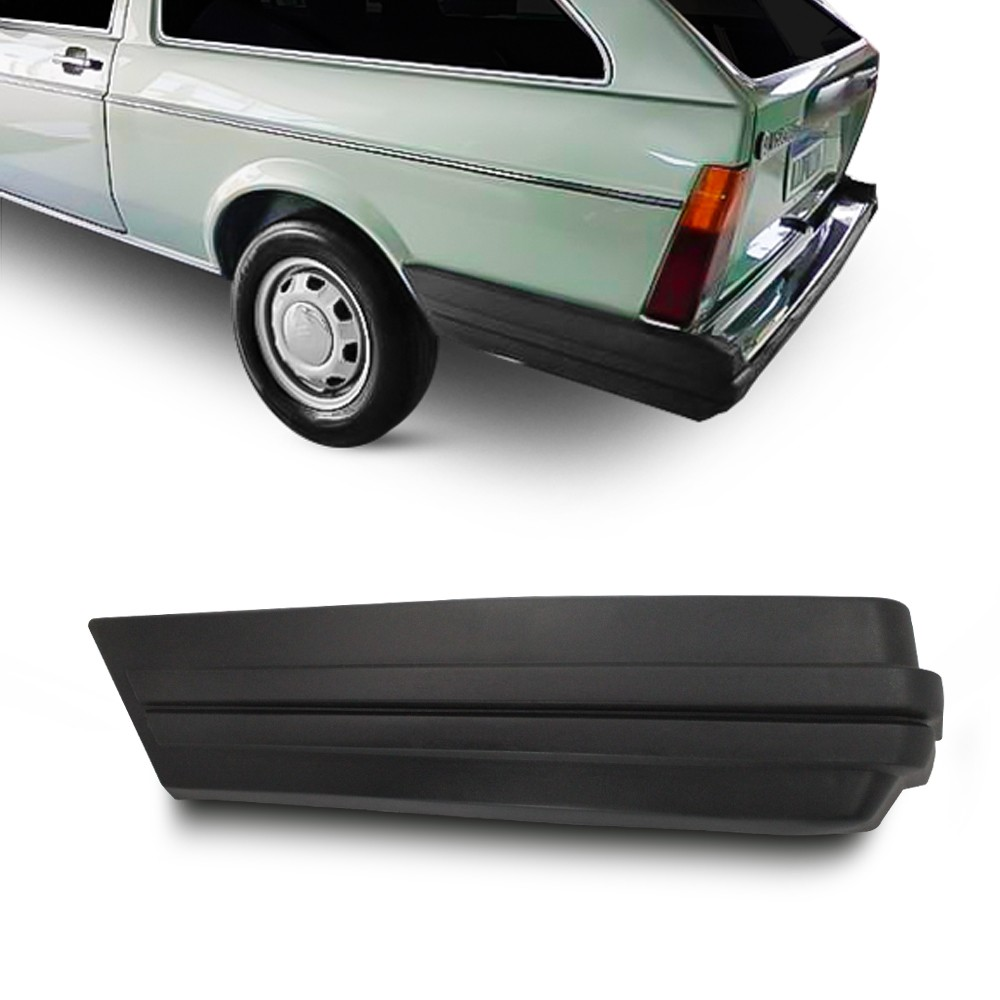Ponteira Parachoque Parati 1984 a 1986 Traseira Preta
