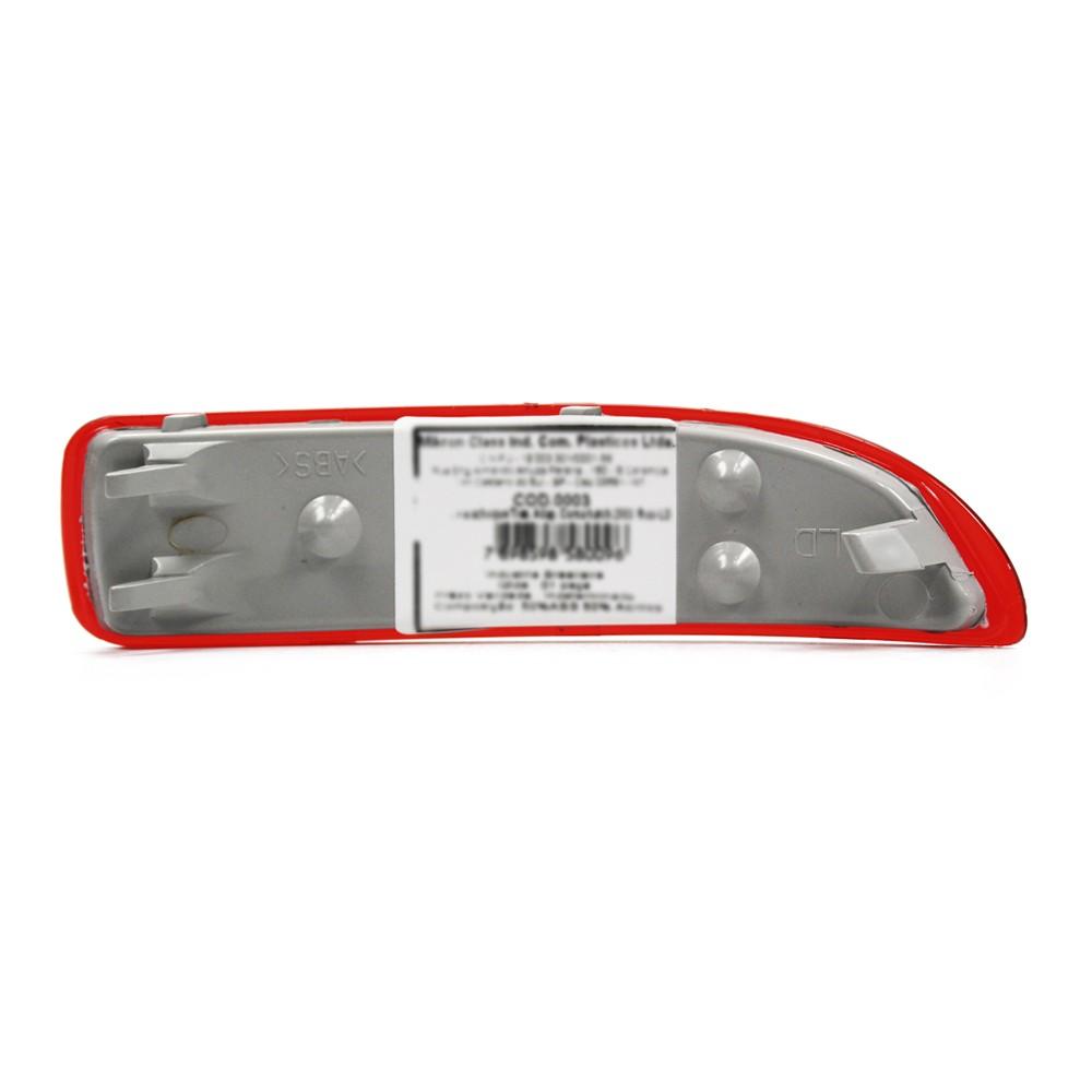 Refletor Parachoque Traseiro Corsa Hatch 2003 a 2008 Rubi