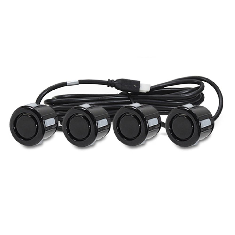 Sensor de Estacionamento 4 Pontos Preto Brilhante