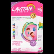 LAVITAN KIDS 60 COMPRIMIDOS MASTIGAVEIS TUTTI FRUTTI