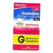 LORATADINA 10MG 12CP BIOSINTETICA