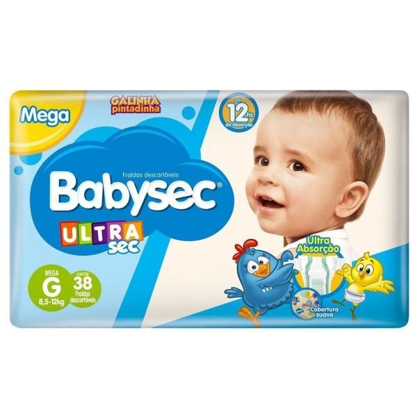Babysec Ultra Sec G 68 Fraldas Descartáveis
