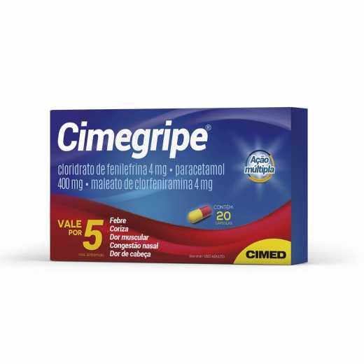CIMEGRIPE 400MG 20 CAPS (Val.06/21)
