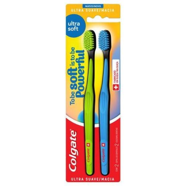 Colgate Escova Dental Ultra Soft com 2 Suave/Macia