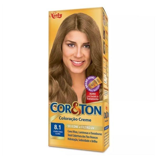 COR&TON TINT  8.1 LOURO CINZA CLARO