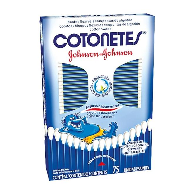 COTONETES HASTES FLEXIVEIS JJ 75 UNIDADES
