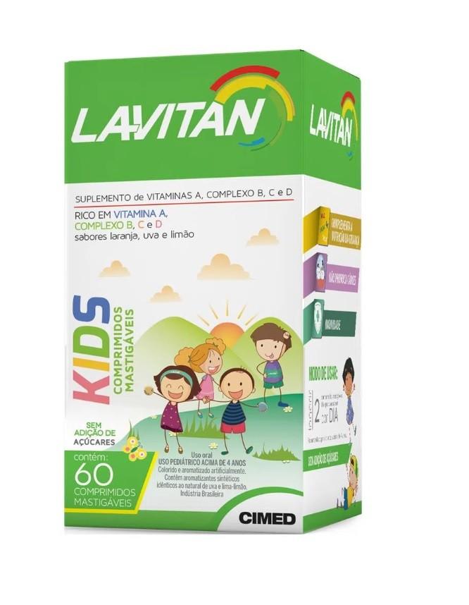 LAVITAN KIDS 60CP LARANJA UVA LIMAO