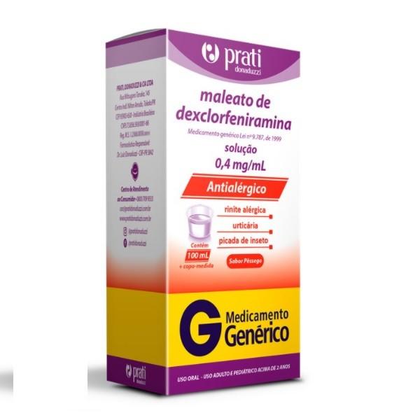 MALEATO DE DEXCLORFENIRAMINA 100ML PRATI