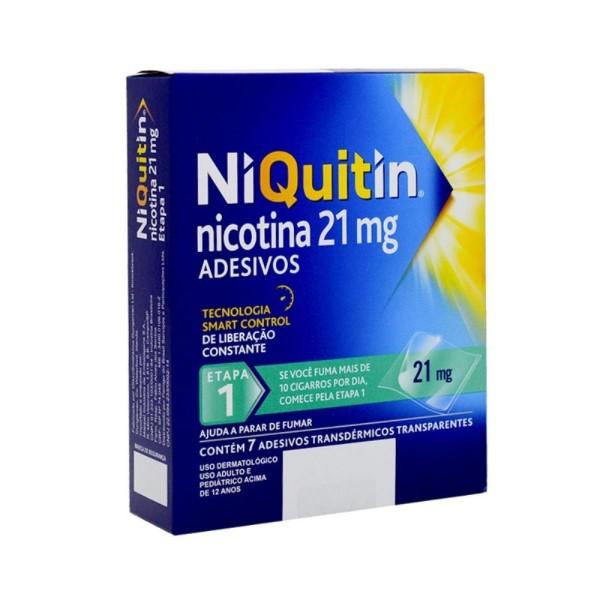 Niquitin 21mg 1 Etapa 7 Adesivos