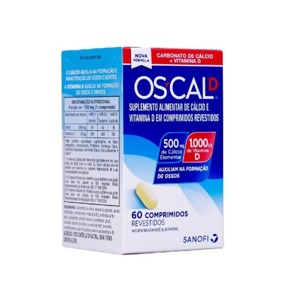 Os-Cal D 500mg+1.000Ui 60  Comprimidos