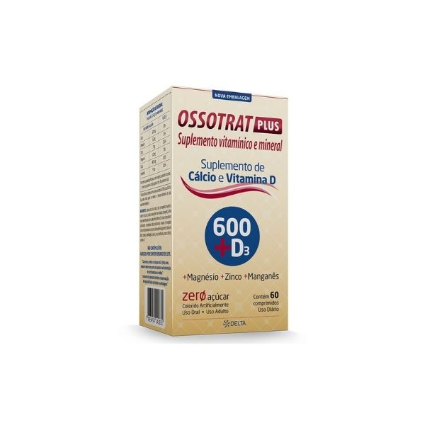 OSSOTRAT PLUS 600MG+D3 60CP