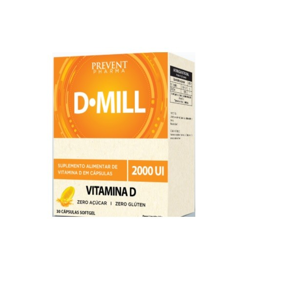 PREVENT D-MILL 2000UI C/30 CÁPSULAS SOFTGEL
