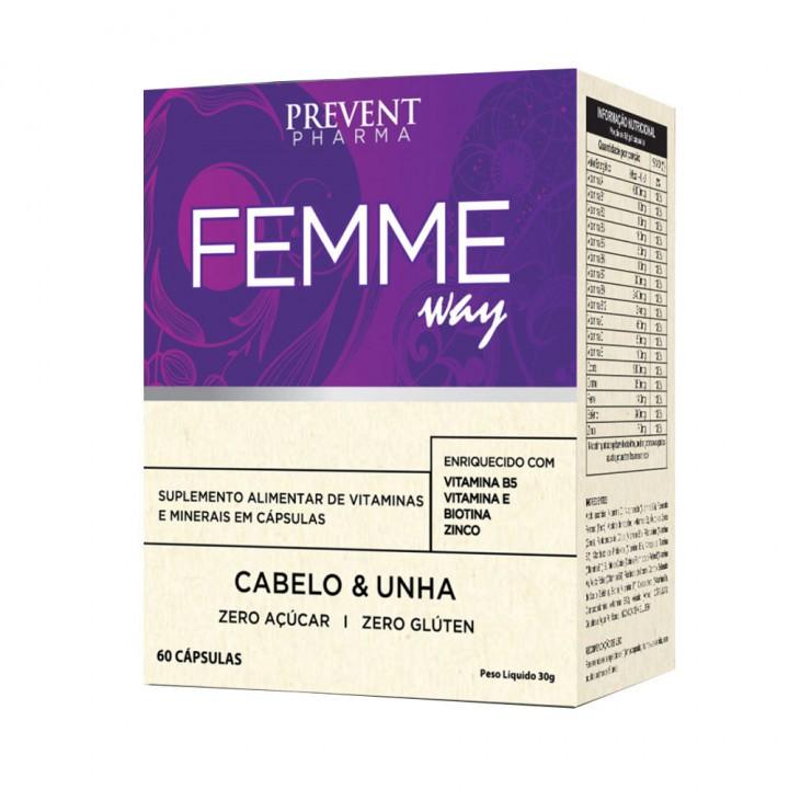 Prevent Femme Cabelo & Unha com 60 Cápsulas