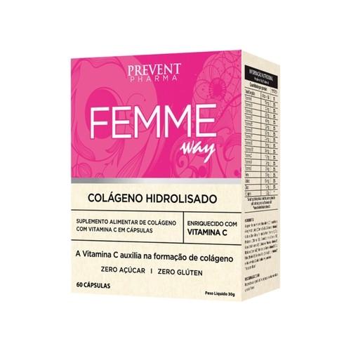 Prevent Femme Colágeno Hidrolisado com 60 Cápsulas