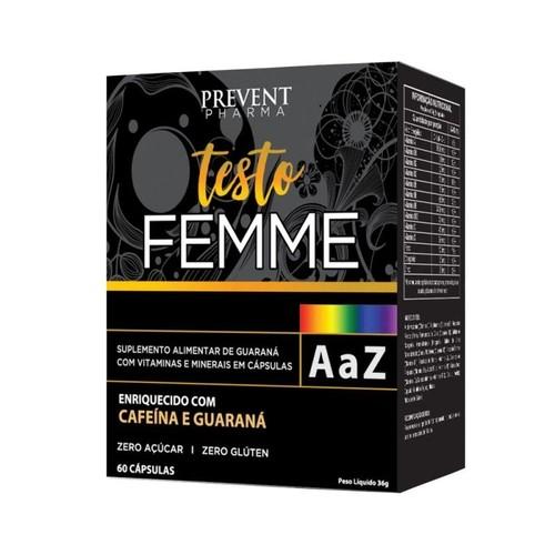 Prevent Testo Femme A-Z com 60 Cápsulas