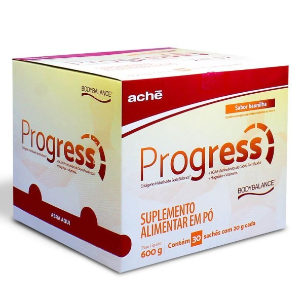PROGRESS BAUNILHA 600MG C/30 SACHES