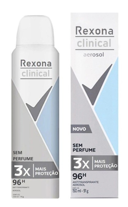 REXONA CLINICAL SEM PERFUME AERO 150ML
