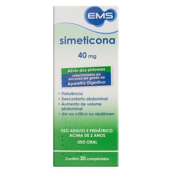Simeticona 40mg 20 Comprimidos EMS