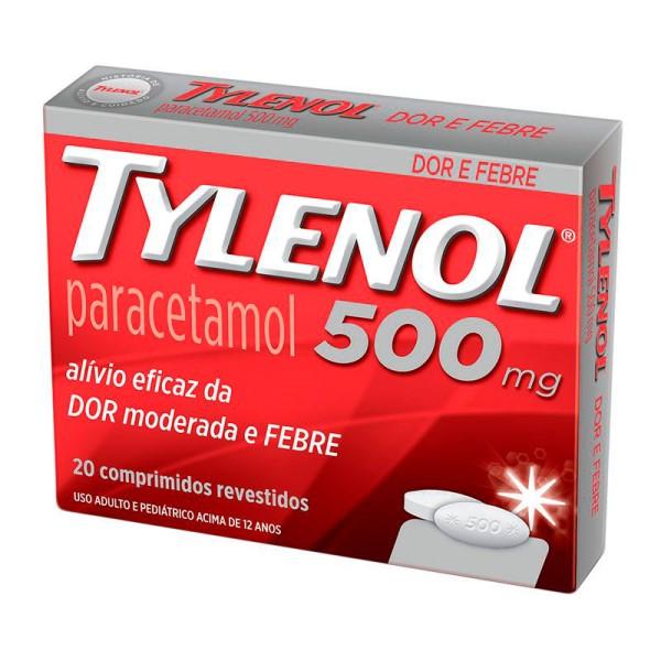 Tylenol 500mg 20 Comprimidos