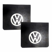 2 Parabarro Dianteiro Símbolo Volkswagen 46 x 40 cm Preto Com Branco em alto relevo Lameiro