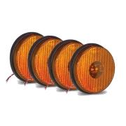 4 Lanternas Lateral Redonda Carreta Led Bivolt Amarela