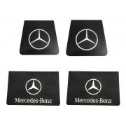 4 Parabarro Borracha Caminhão Mercedes Benz Dianteiro 40 x 38 E Traseiro 55 x 34
