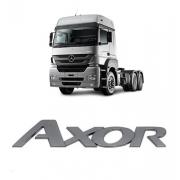 Emblema Frontal Caminhão Mercedes Benz Axor Plástico Cromado