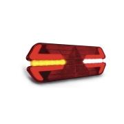 Lanterna traseira Universal Carreta Triplo X Led 12V Lado Esquerdo