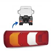 Lente Lanterna Traseira Esquerda Para Caminhões Mercedes Benz Actros, Accelo, Atego e Axor