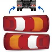 Par Lente Lanterna Traseira Para Caminhões Mercedes Benz Actros, Accelo, Atego e Axor