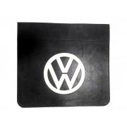 Parabarro Dianteiro Símbolo Volkswagen 46 x 40 cm Preto Com Branco em alto relevo Lameiro