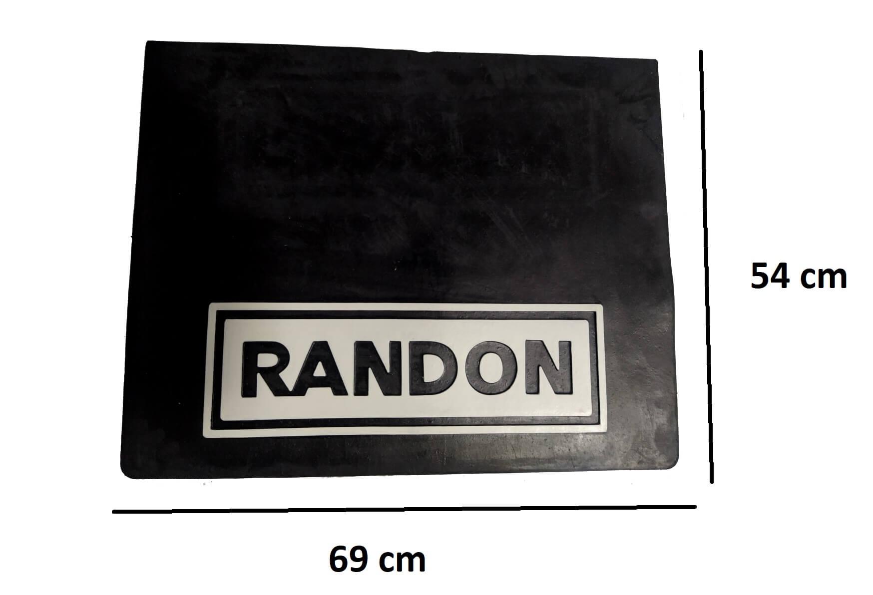 2 Parabarro Borracha Carreta Randon 69 X 54 Cm Lameiro