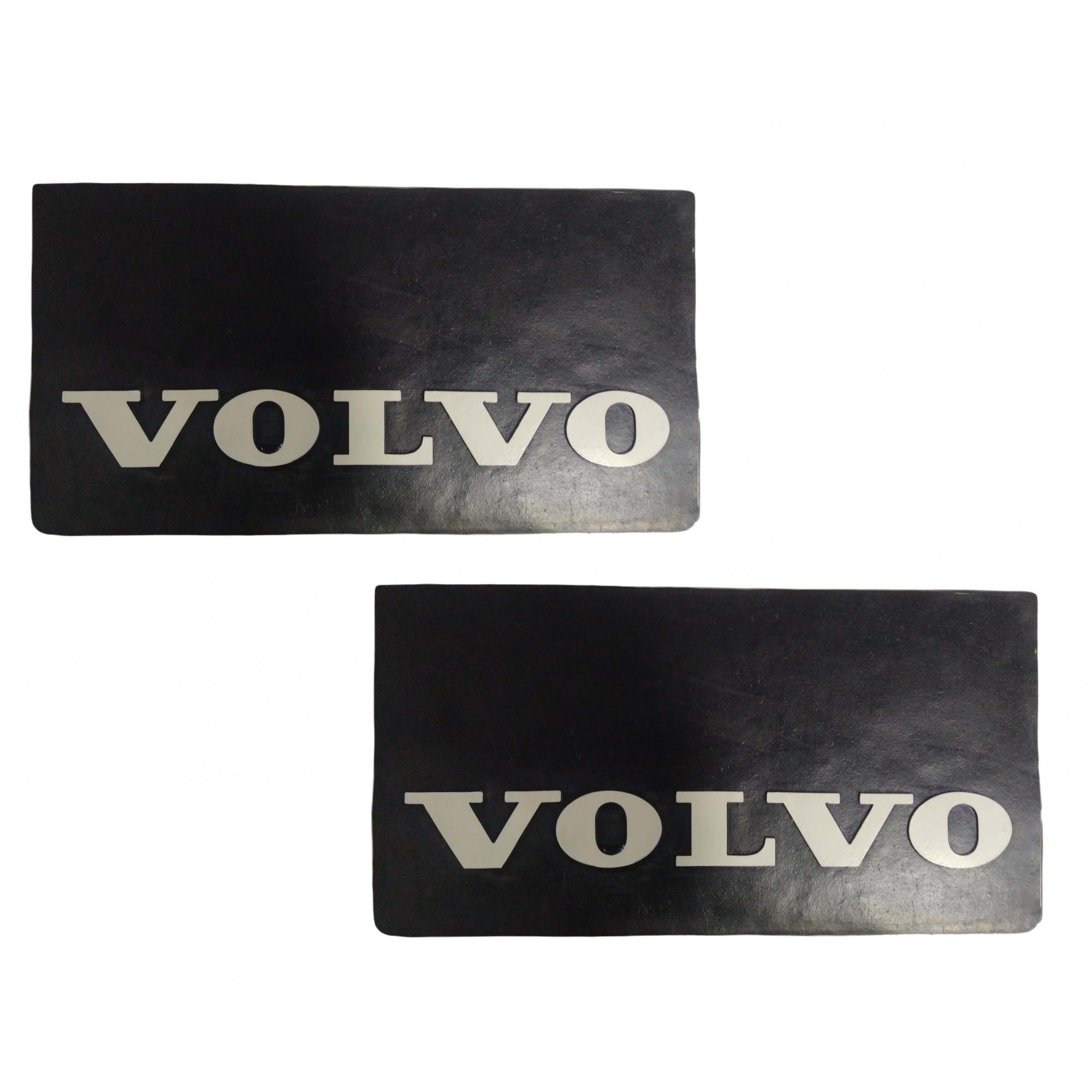 2 Parabarro Borracha Volvo 64 X 32 Cm Traseiro Lameiro