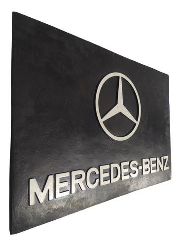 2 Parabarro Traseiro Caminhão Mercedes Benz 66 X 45 Cm Lameiro