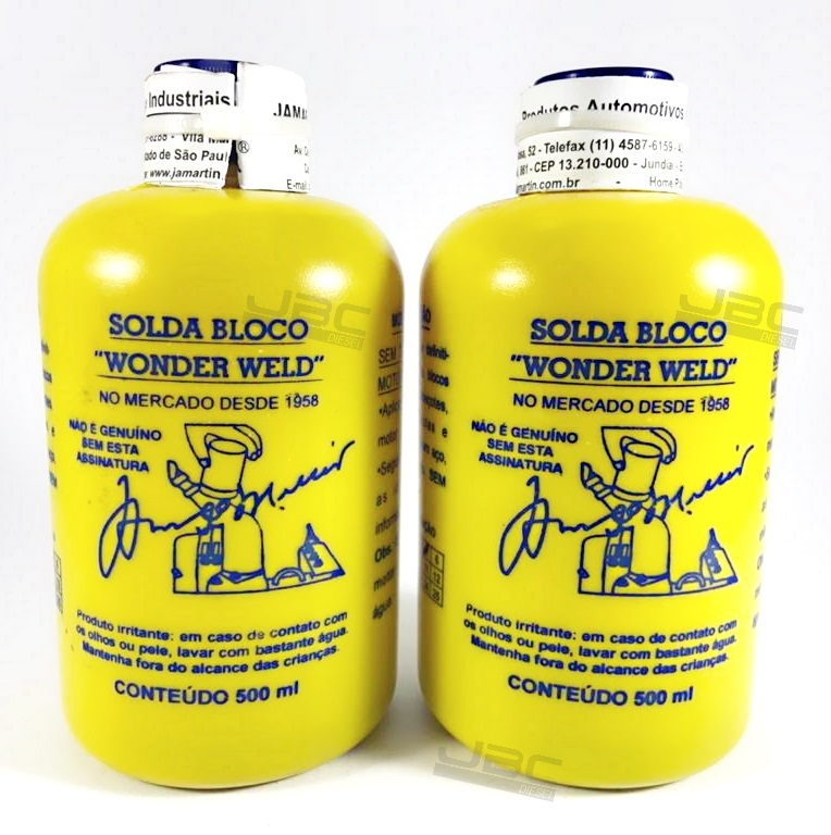 2 Solda Bloco Wonder Weld 500ml Refrigerado A Água