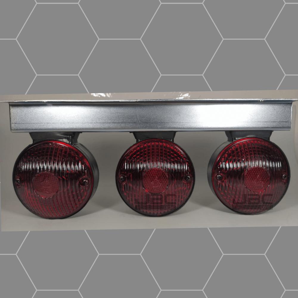 3 Lanterna Foguinho Vermelho Bolinha com Suporte 3 Marias