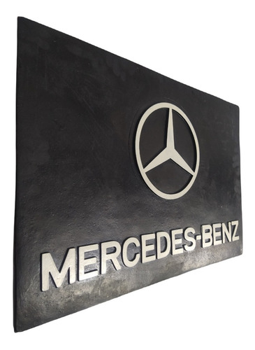 4 Para-barro Mercedes Benz preto com branco 66 x 45