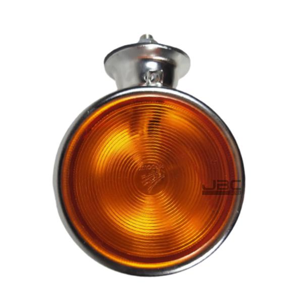 5 Lanterna Foguinho Amarela Alta Cromada Carreta Caminhão