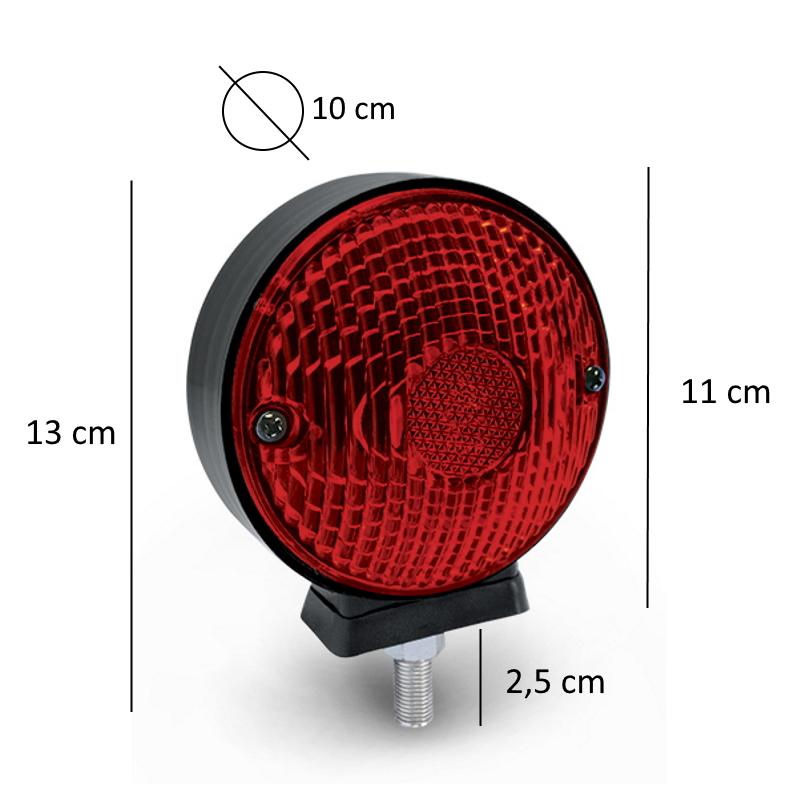6 Lanterna Foguinho Vermelha 3 Maria Para-Choque Carreta Caminhão
