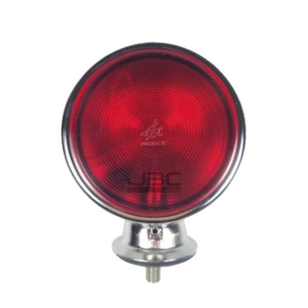 6 Lanterna Foguinho Vermelha Alta Cromada Carreta Caminhão