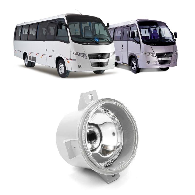 Farol de Milha Redondo Lente Vidro Lisa Caminhão Ônibus SUV