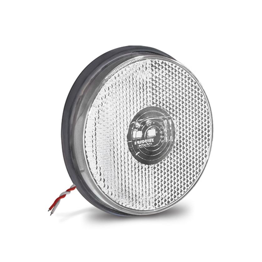 Lanterna Lateral Redonda Carreta Led Bivolt Amarela ou Cristal