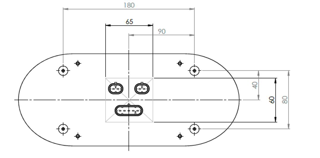 Lanterna Traseira Carreta Randon Universal Led 24V Lado Esquerdo