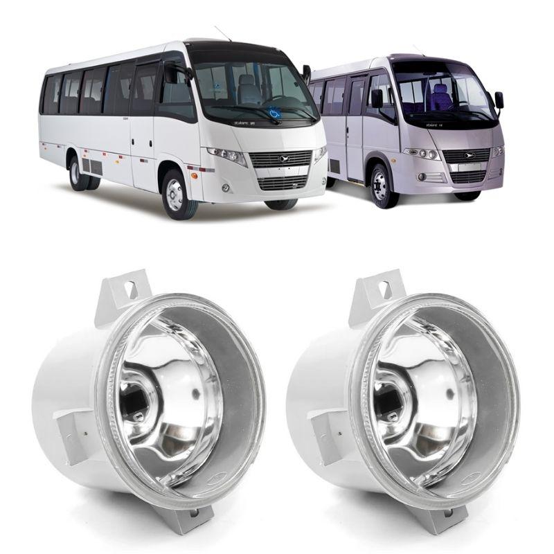 Par Farol de Milha Redondo Lente Vidro Lisa Caminhão Ônibus SUV